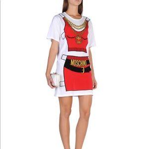 Moschino short dress white